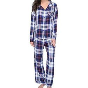 Plush | long sleeve ultra soft plaid pajama set